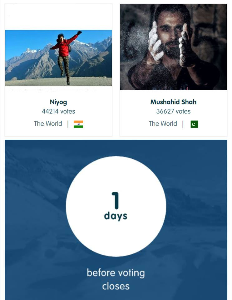Can anyone help me trend this? #VotePakistan ?  #Support me and Pakistan please #Tag few friends then vote by just clicking on the link below &amp; login with Facebook &amp; wait until its done:  http:// polar.fjallraven.com/contestant/?id =25 &nbsp; …   It takes #Less than 30 seconds, DO IT PAKISTAN!   #Share <br>http://pic.twitter.com/tHgngFNPTX