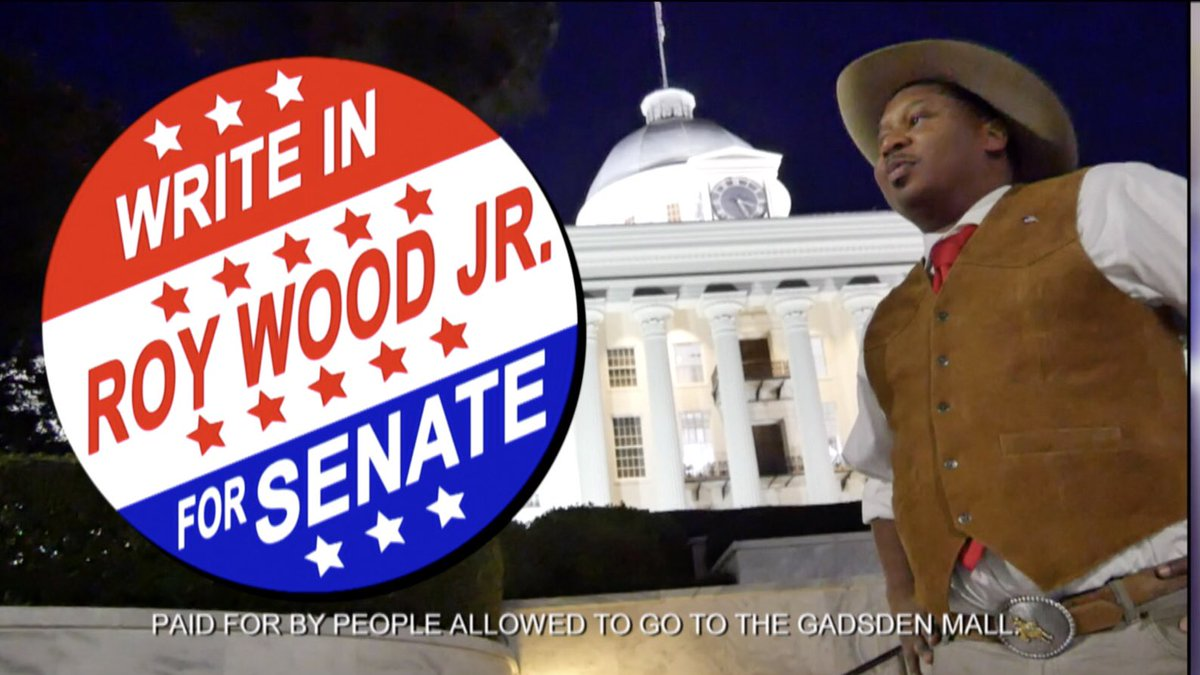 Is It with great regret That I concede the race to Doug Jones. My chances as a write-in were slim as I could only afford one TV Ad. Though sad, I take comfort in knowing I'm still allowed at the Gadsden Mall. #ALSenate