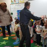 """McGruff (CLO Joe Townsend) & Community Liaison Officer Scott Peck visited E. Linden Elementary School today! """"This is Mrs. Erica Slasor's class. They were very well behaved, asked a lot of questions & ALL want to be police officers when they grow up,"""" said Peck. #TogetherIsBetter"""