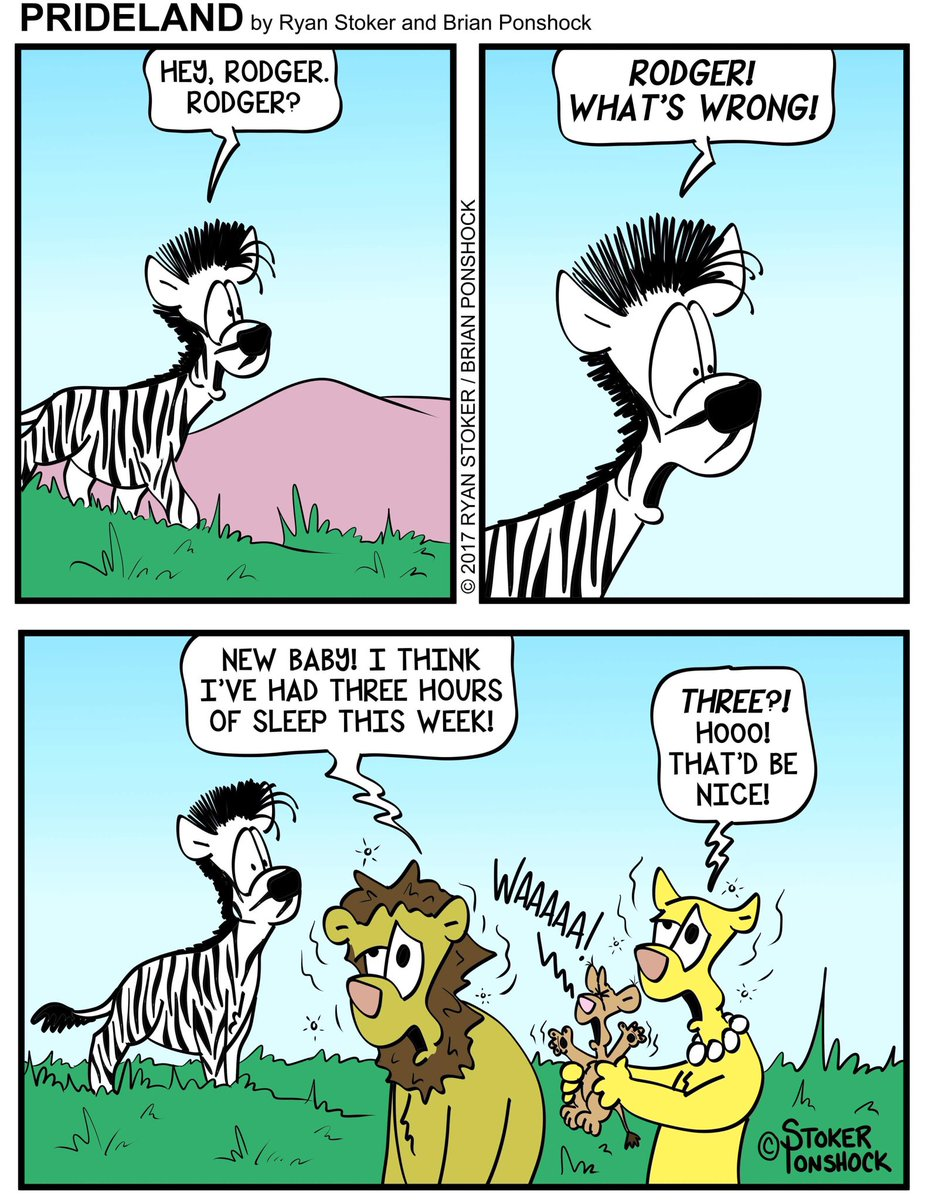 #Parents never get to #sleep! #Rodger #Akilah #Larry #friends #baby #crying #tired #zombies #mom #dad #babies #webcomic #lion #zebra #comic<br>http://pic.twitter.com/IBEHUdiOge
