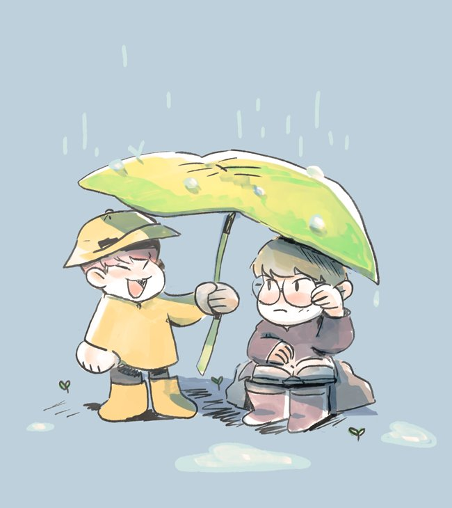 RT @snottle: even in rain or shine 🦊🐹 #soonwoo https://t.co/XiMFdW1daR