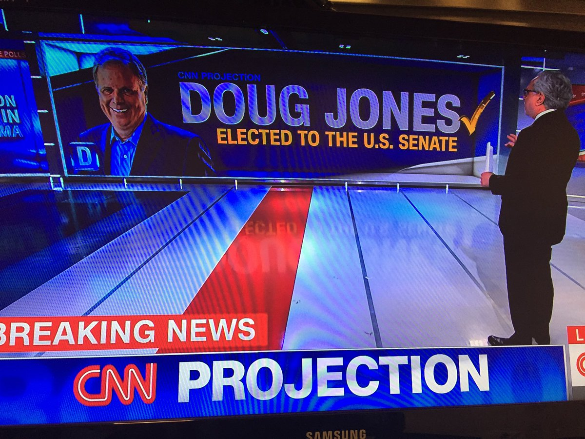 Bulletin: Doug Jones elected to US Senate in a massive rebuke to President Trump.