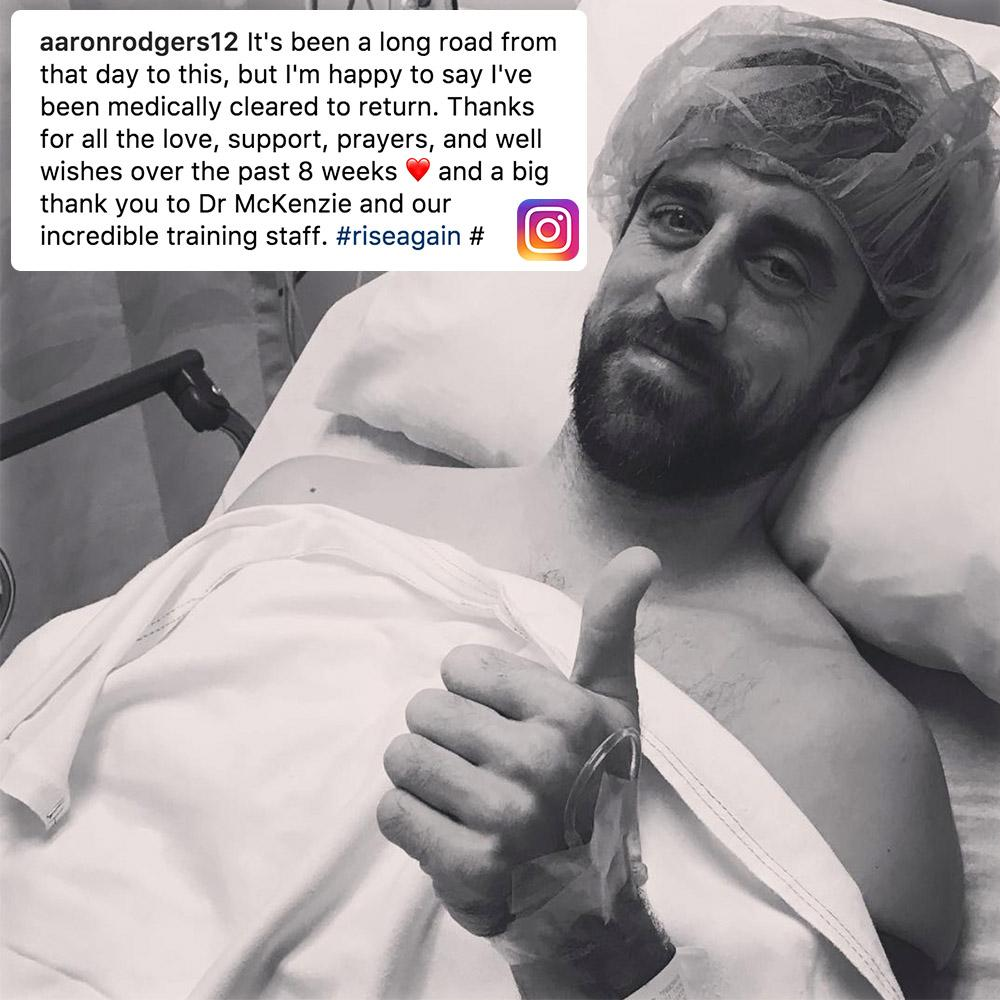 Aaron Rodgers has been medically cleared to play.