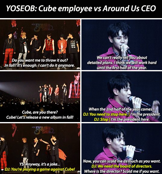 #throwback XD BEAST as artist/employees under Cube vs HIGHLIGHT as CEOs of their own company Around US <br>http://pic.twitter.com/l9TeNY64ow