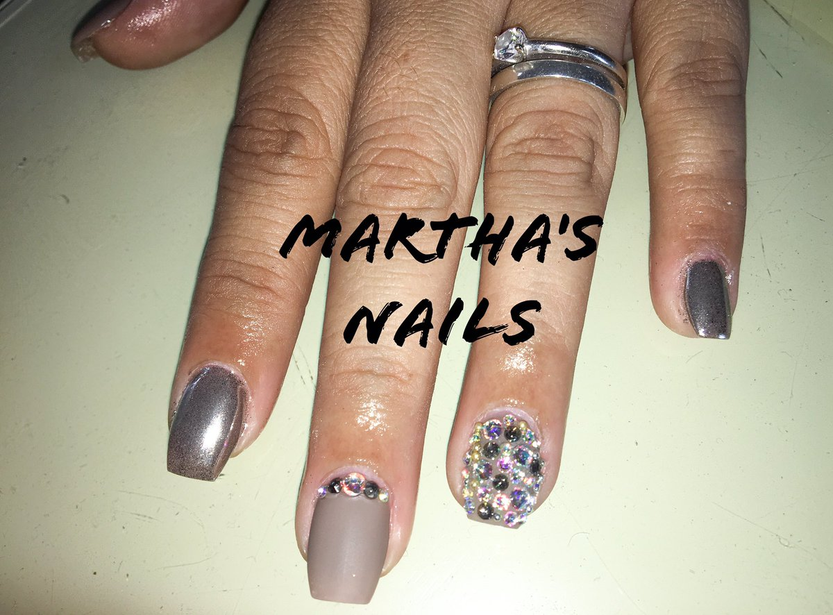 Marthas Nails On Twitter Uñas Efecto Espejo Acabado Mate