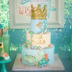 """See amazing party ideas at https://t.co/2n0L40LUCS! - 925 Likes, 17 Comments - One Inspired Party (@oneinspiredparty) on Instagram: """"In a world of make believe mermaids are our favorite! A sneak peek of this stunning mermaid party…"""""""