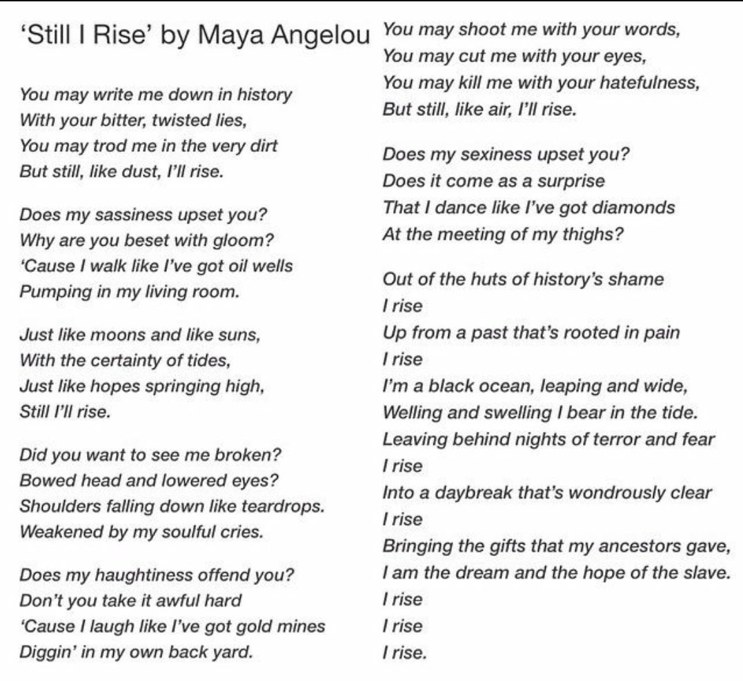 the realistic sense of imagery as brought out in maya angelous poem our grandmothers Maya angelou&#8217s poem, &#8220our grandmother&#8217s,' vividly exemplifies a sense of imagery that is brought to life the most effective way that, maya angelou presents imagery to the readers is through the setting.