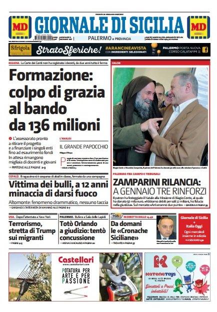 La prima pagina del Giornale di Sicilia oggi in edicola. Accedi al giornale digitale https://t.co/TcxqY4CTrT