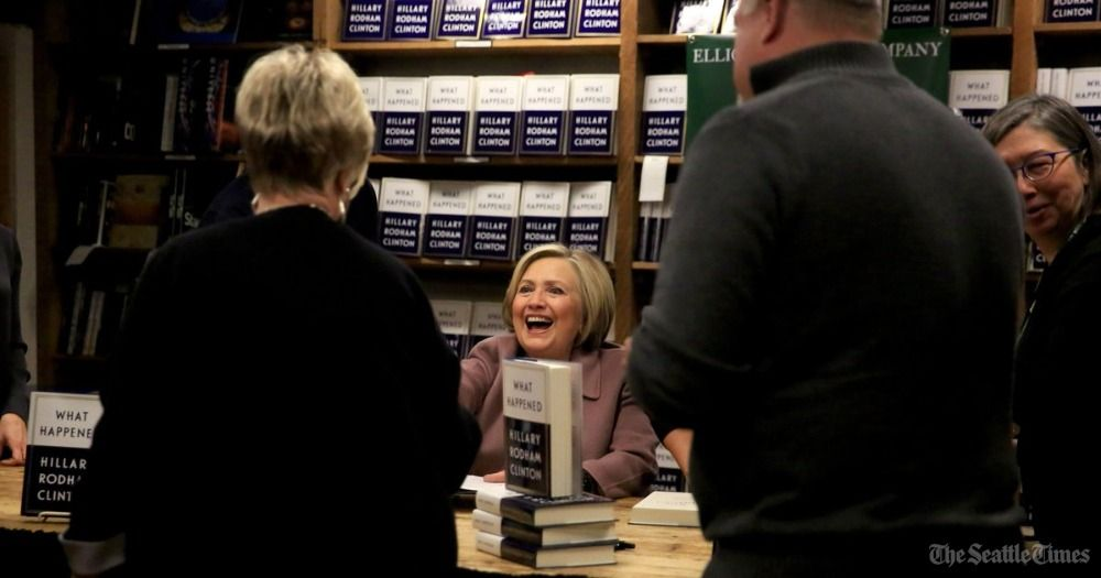 'She's American royalty,' says one of hundreds of visitors to Hillary Clinton book signing in Seattle: https://t.co/OsXE8ktdBY