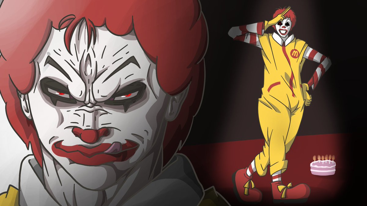 Narmak on twitter ronald mcdonald v s it top 10 anime fight scenes who would win