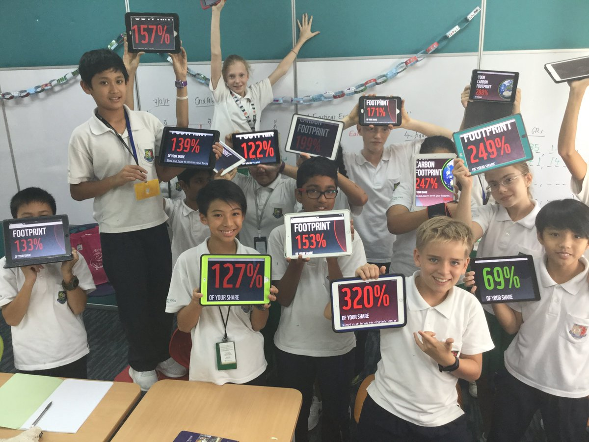 What&#39;s your carbon footprint? Experiential learning bring climate change alive for Year 8 geographers #humanities #GISlearning <br>http://pic.twitter.com/9D5GNGjW4e