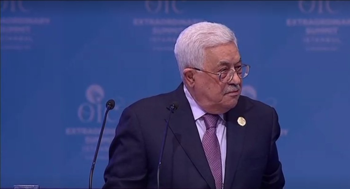 Palestinian President Abbas said Palestinians rejects U.S. in a peace process role as it was biased towards Israel. 'There will be no peace if the world does not recognize east Jerusalem as the capital of a future Palestinian state' at @OIC_OCI extraordinary summit #Jerusalem