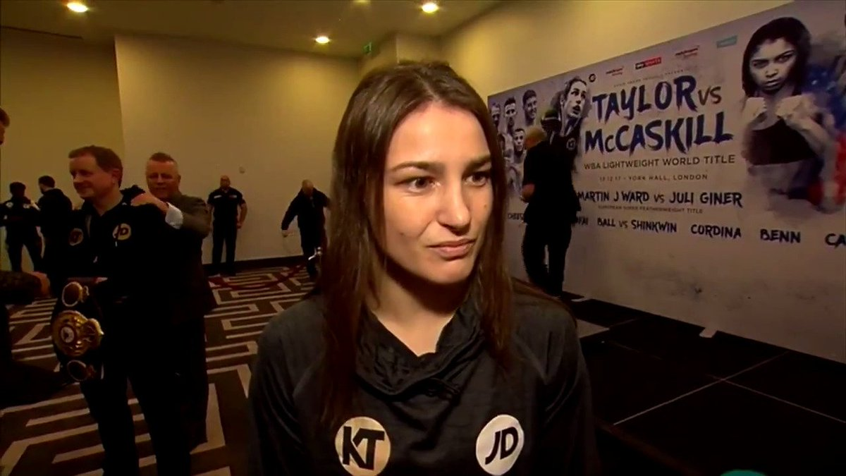 Katie Taylor said she will do her talkin...