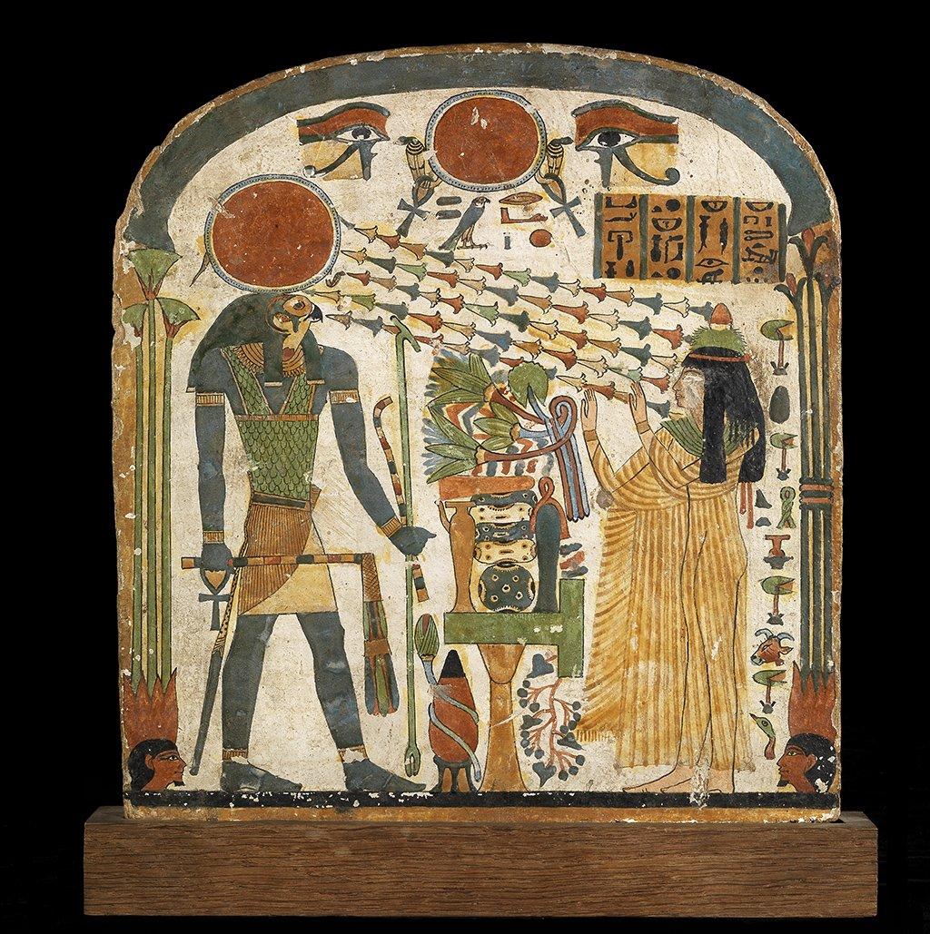 [#UnJourUneOeuvre] 'Stèle de la dame Tapéret', Xe ou IXe siècle avant J.-C. (22e dynastie)  ☛ https://t.co/G5jqlxwABW #AntiquitésEgyptiennes