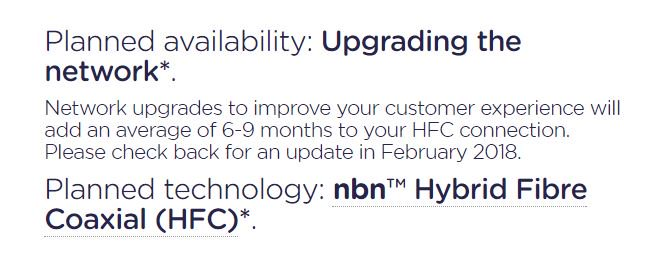 Future cable #NBN users no longer have a due date. This does not bode well, does it?