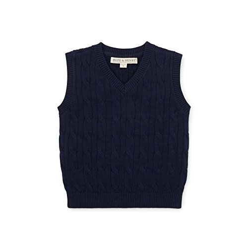 DOYOMODA Baby Boy Crew Neck Button Down Sweater Toddler Cable Knit Pullover