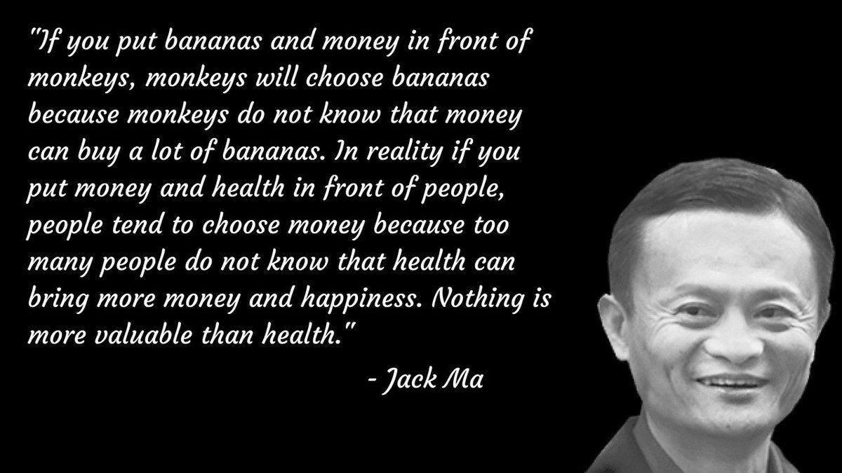 Abacare On Twitter Thank You Tanya Venkatraman For Sharing With All Of Us This Great Quote From Jack Ma It S So True That Nothing Is More Valuable Than Health Jackma Health Insurance