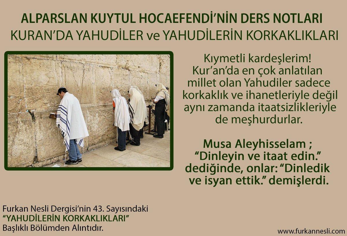 YAHUDİLERİN KORKAKLIKLARI Alparslan Kuyt...