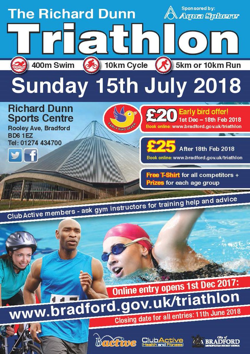Sport bradford on twitter entry is open for the richard dunn do it for your chosen charity or do it just for yourself sign up now httpwwadfordtriathlon picitterwb7tvo1teb solutioingenieria Images