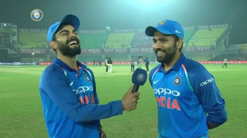 Watch: Virat Kohli in splits after Rohit Sharma opens up about run-out 'mishaps'  https://t.co/DD75J0Fdhs #RohitSharma #ViratKohli