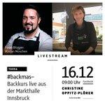#Live aus der Markthalle #Innsbruck! @fuerinnsbruck #backmas-Backkurs mit #foodblogger Marian Moschen @mannbackt #mannbackt im Rahmen der #fuerinnsbruck-Keksbroschüre für #gutenzweck Kommt vorbei o. schaut live auf Facebook zu https://t.co/CIpgayPPvI zu Sa., 16.12, 9h #ibktwit
