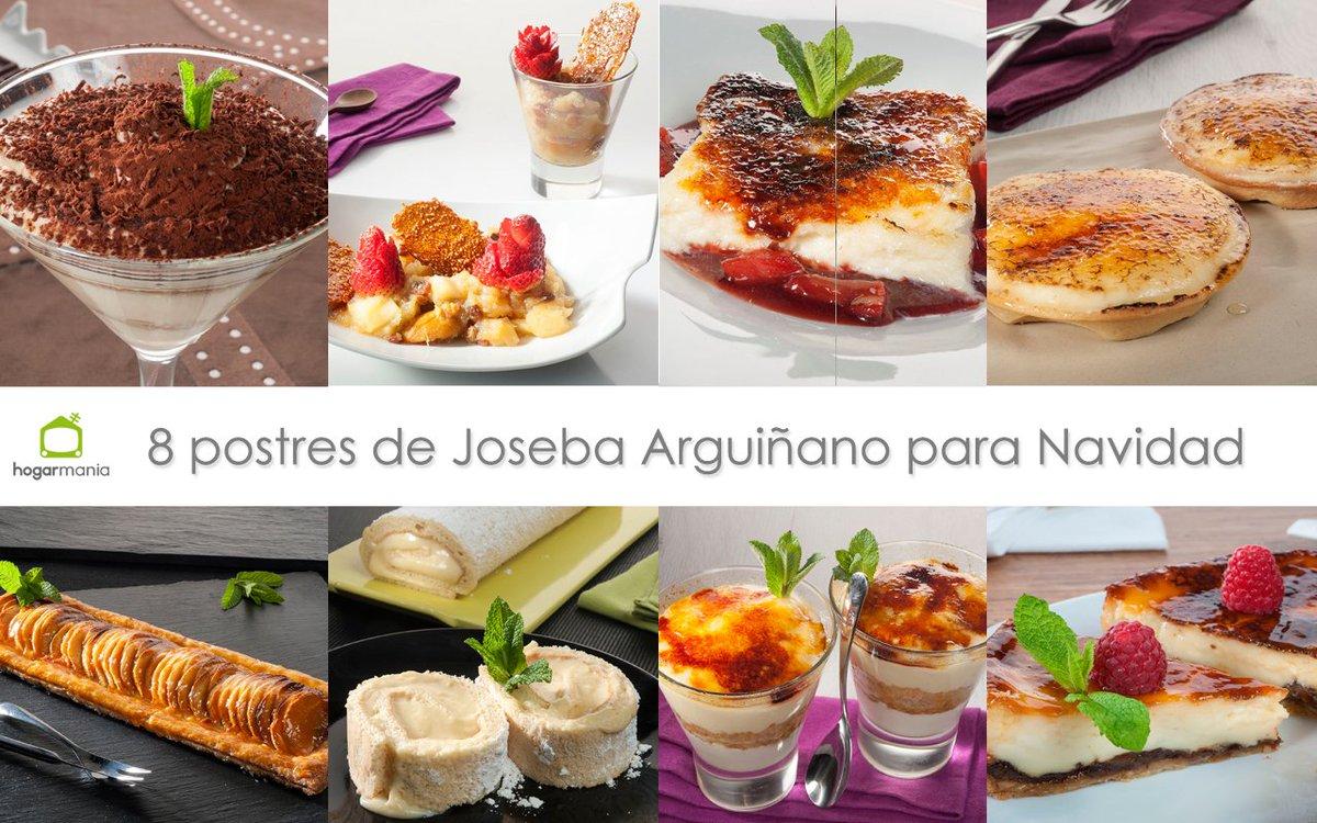 8 postres de Joseba Arguiñano para terminar de la mejor manera las comidas y cenas de Navidad ➤ https://t.co/jzOM421hoE #cocina