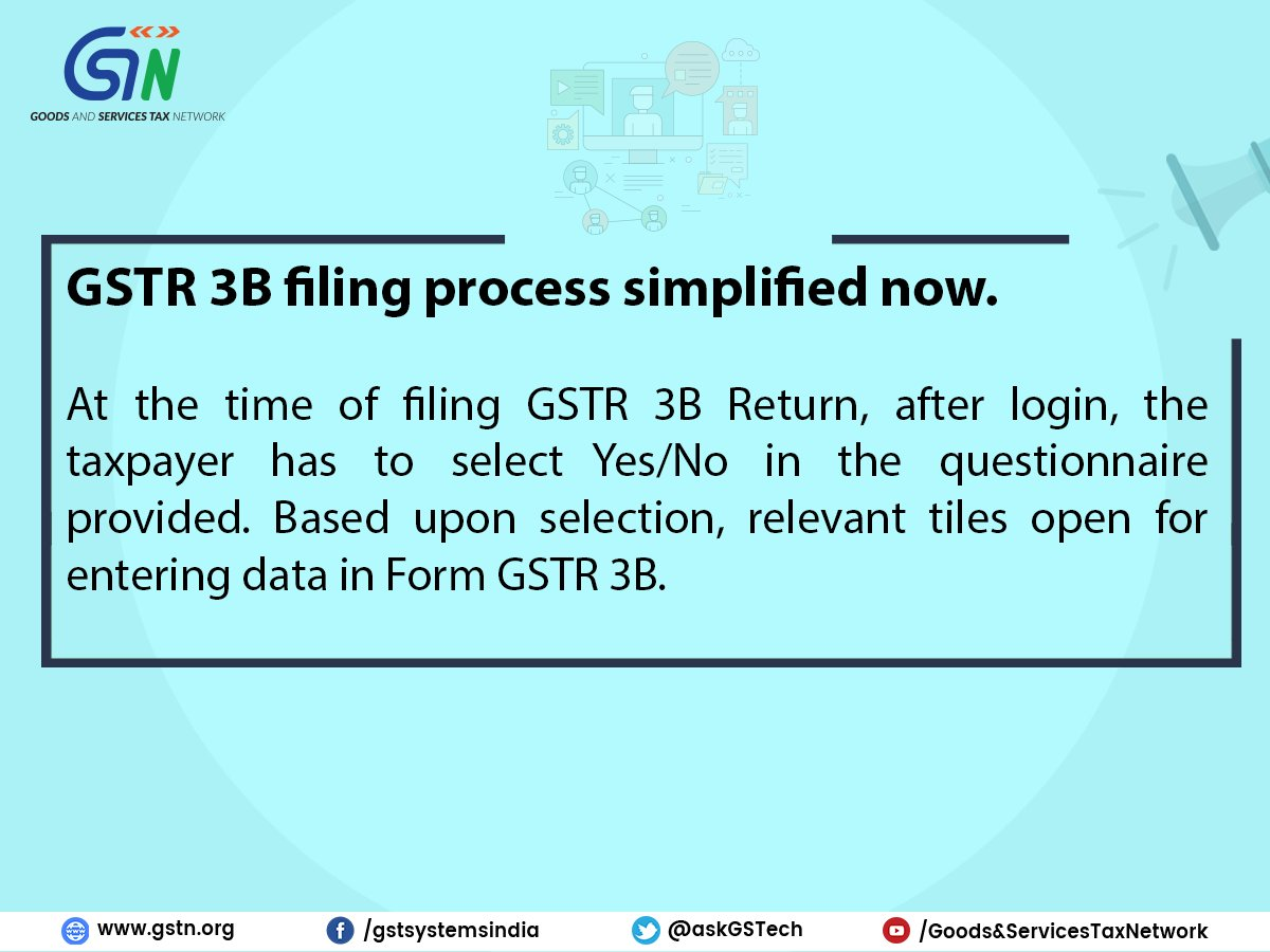 Gstr 3b filing process simplified for Table 6 of gstr 3b