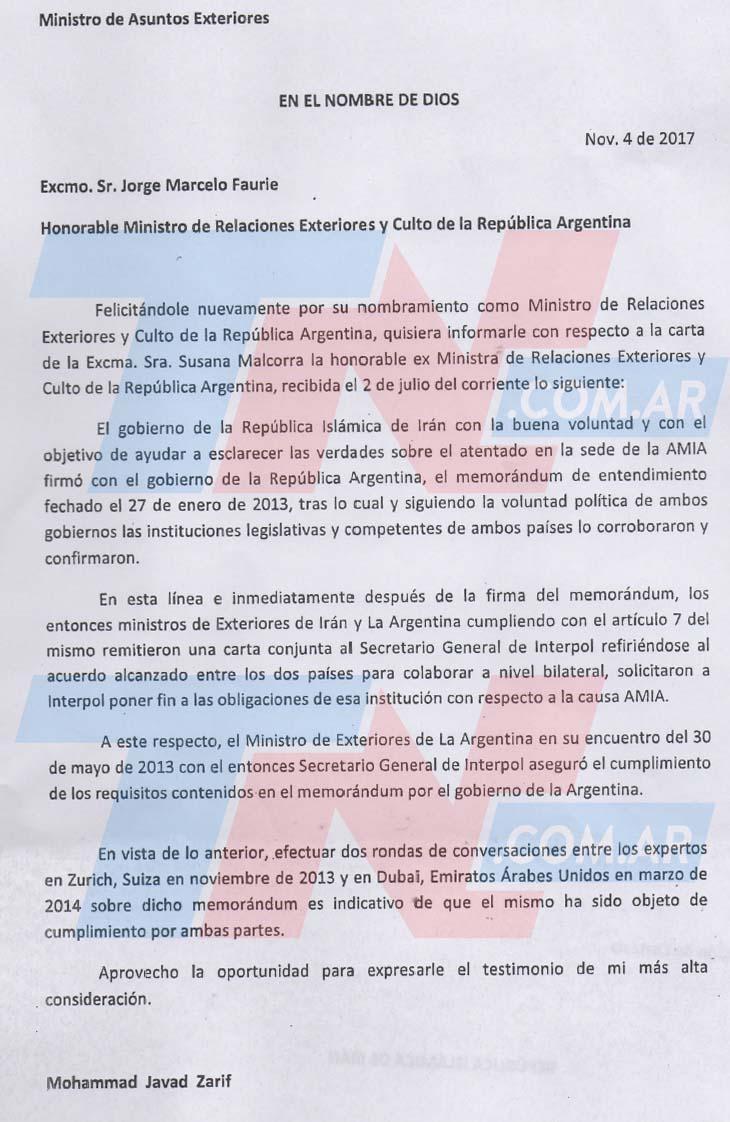 Irán admitió que el Memorándum se firmó para que Interpol levantara las alertas rojas. Este es el documento que lo prueba y que contradice las versiones de Cristina Kirchner y del excanciller Timerman https://t.co/HIbJDVGrp6