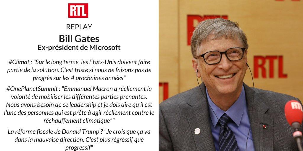 🔴 REPLAY - Ce matin, @BillGates était l'invité de @EliMartichoux sur @RTLFrance #RTLMatin  > https://t.co/M0jsFZDF30