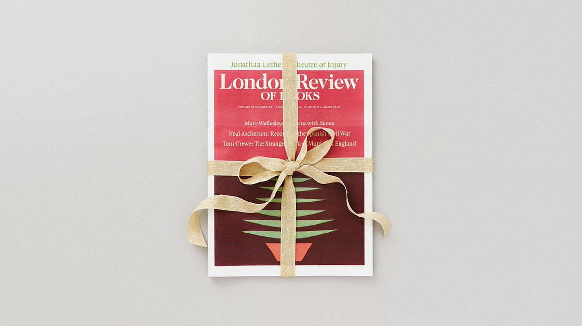 An LRB gift subscription -- what could be nicer? Our best offers are here: https://t.co/a7U5ZlhDKn
