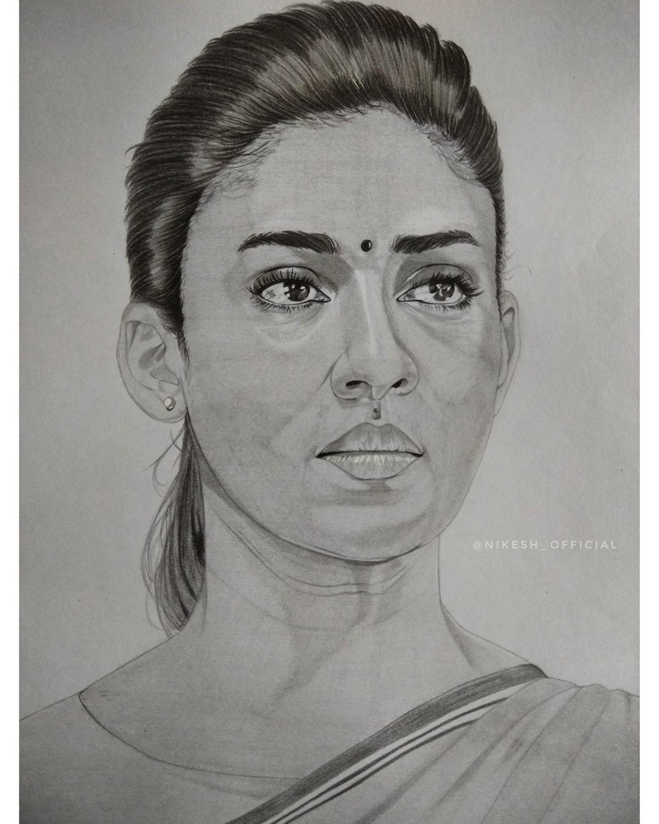 Nikesh on twitter my pencil sketch for the bold and beautiful actress nayanthara 😊❤ nayan actress tamil kollywood ladysuperstar photovsdrawing