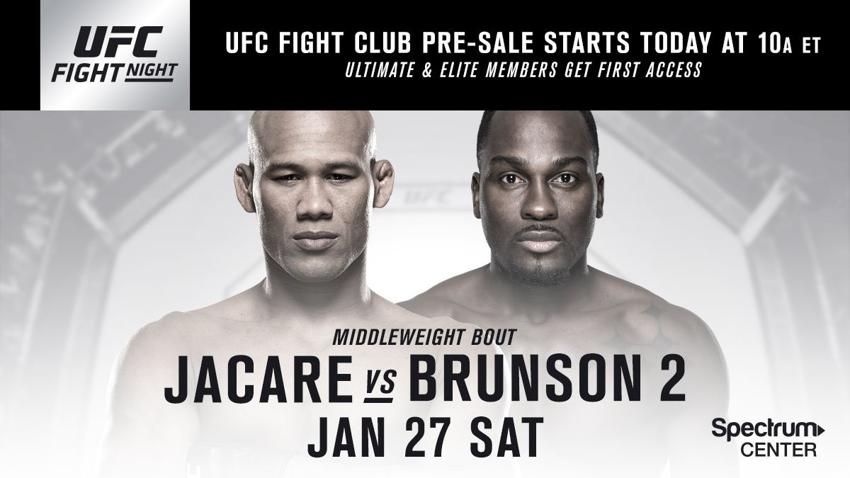Charlotte, your time is NOW! The UFC Fight Club presale is here: bit.ly/2AepssC #UFCCharlotte