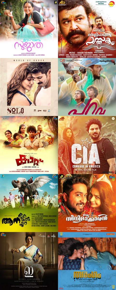 top collection malayalam movie 2017