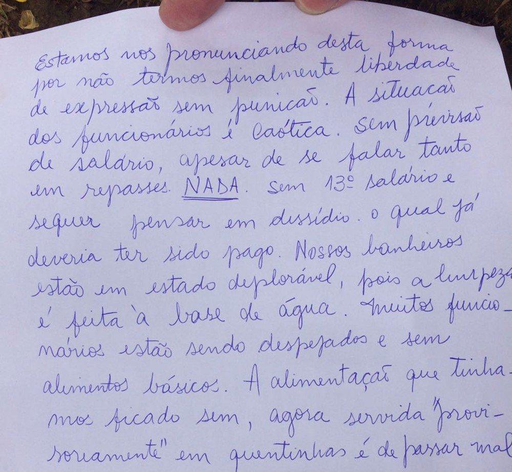 Funcionários pedem socorro através de bilhetes em hospital do Rio https://t.co/EI7XX6G6xz #G1Rio
