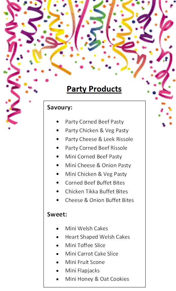 test Twitter Media - With the Christmas & New Year celebrations coming up, here's a list of some of our party products available to order. General public orders also welcome! Call us on 01792 579908 for more info #party #christmas #newyear #celebrate #foodie #swansea #shoplocal https://t.co/K1ksNiqPBp