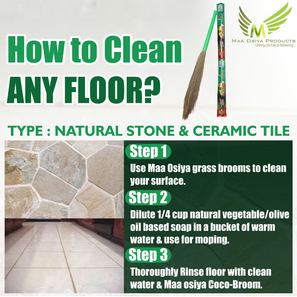 Maa Osiya Products On Twitter How To Clean Your Stone And Ceramic