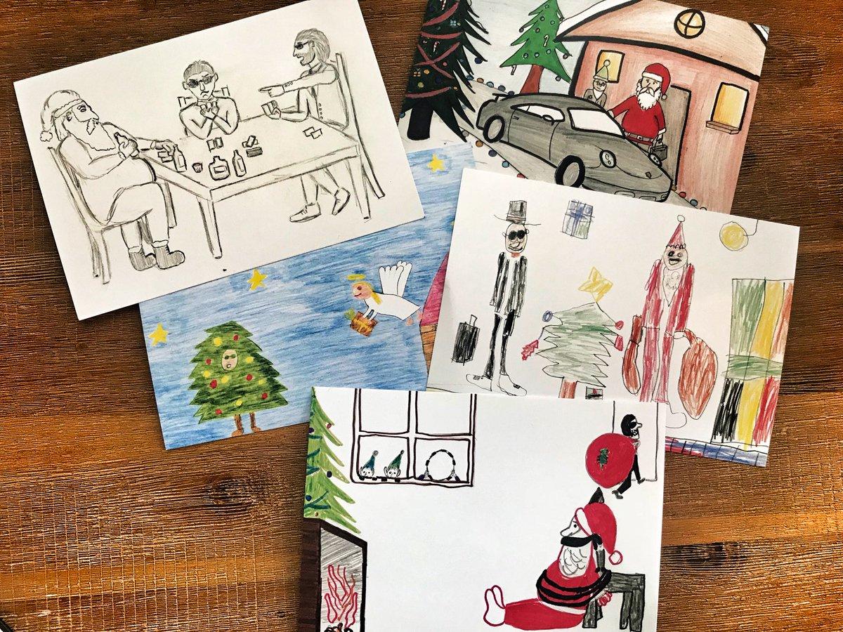 Bnd weihnachtskarten kinder in der kinderonkologie der charité berlin malen agenten xmas007 pic twitter com u28rkjph2a