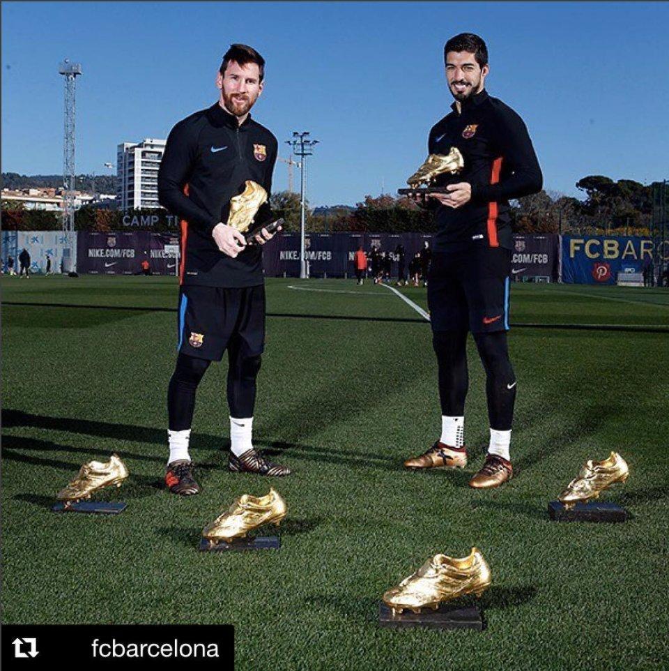 All them boots 😍   📸 via @FCBarcelona