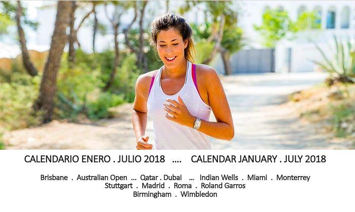Roland Garros Calendario.Garbine Muguruza On Twitter Calendario Enero Julio 2018