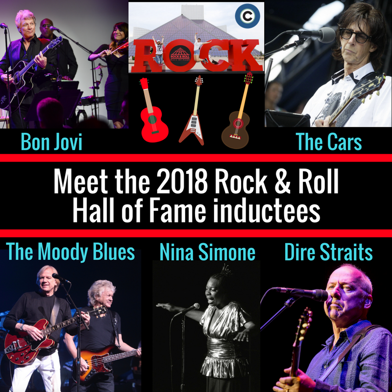 Congratulations to Bon Jovi, Dire Straits, The Moody Blues, The Cars and Nina Simone on being selected as the Rock & Roll Hall of Fame class of 2018. The 33rd induction ceremony will be in Cleveland on April 14, 2018. Photos: AP