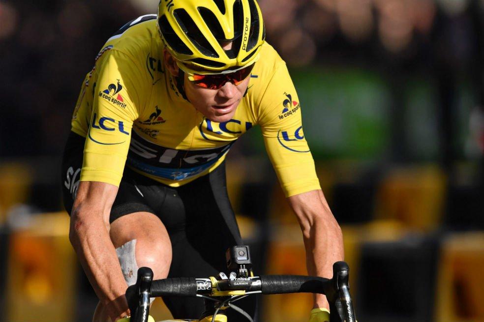 Ciclista británico Chris Froome, positiv...