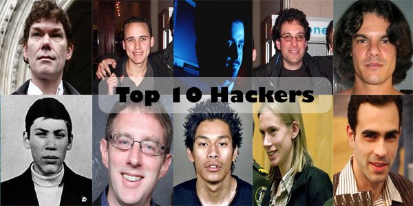 Top10Hackers hashtag on Twitter