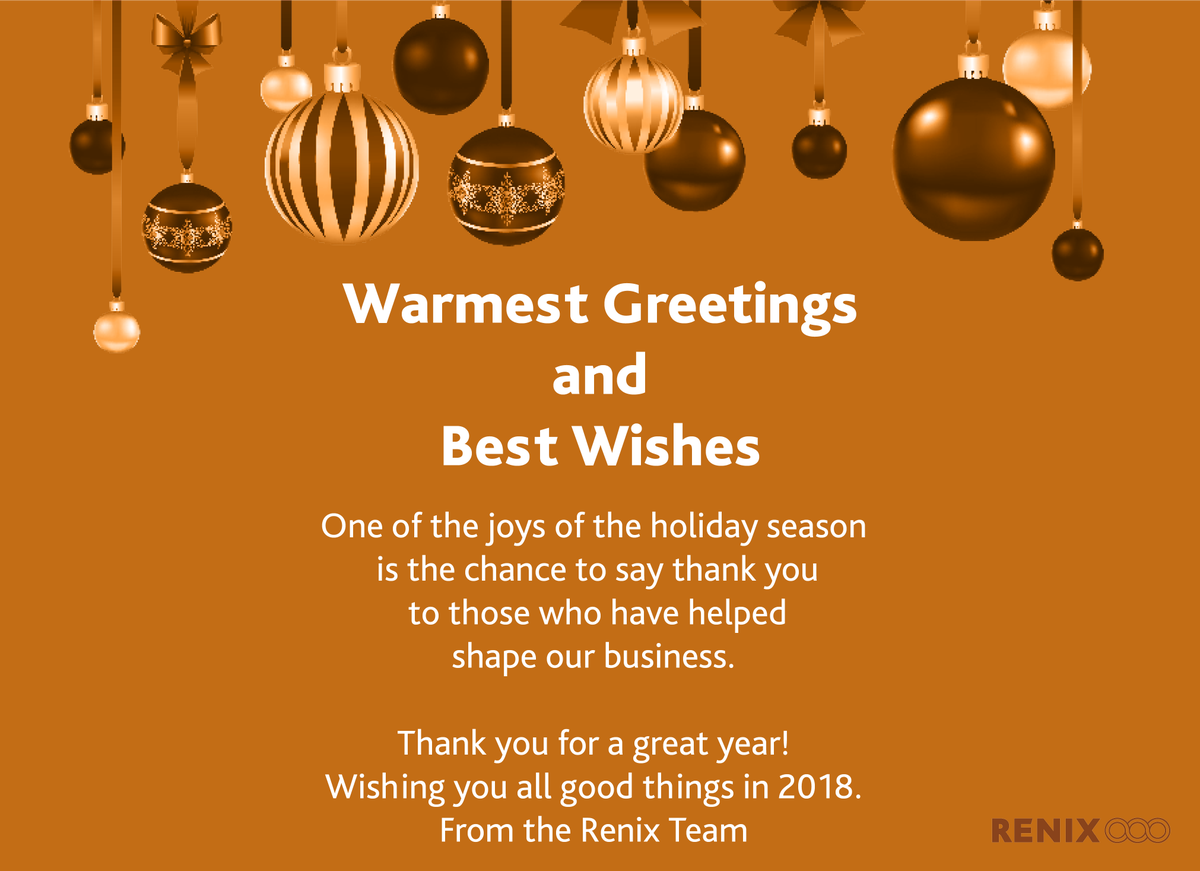 Renix inc on twitter thanks for a great year may the next one thanks for a great year may the next one come full of innovation and success best wishes from the renix team kristyandbryce Gallery