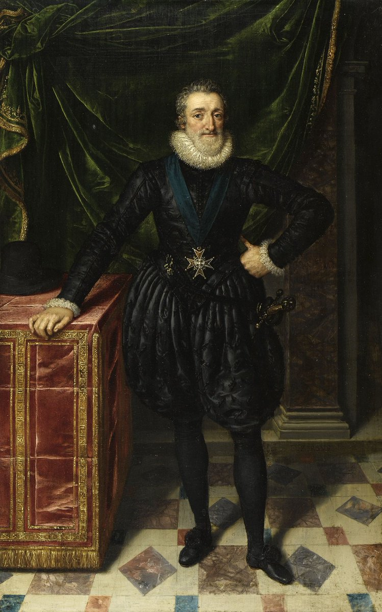 Did you know that King Henry IV of France was born #OnThisDay in 1553? Come and see a whole section of artwork dedicated to him at the Petite Galerie as part of our 'Théâtre de Pouvoir' exhibition. This portrait by Frans Pourbus le Jeune is a taster!
