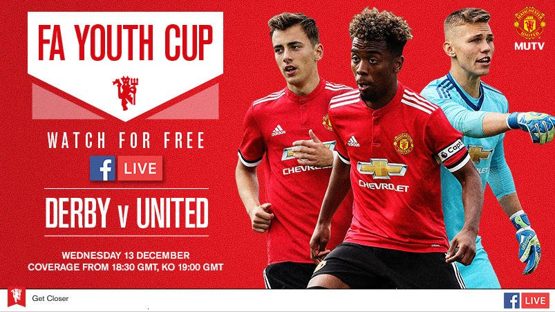 U18s: Join us live on Facebook at 18:30 GMT to watch Derby v #MUFC in the FA Youth Cup: https://t.co/fhBFbw2xHb