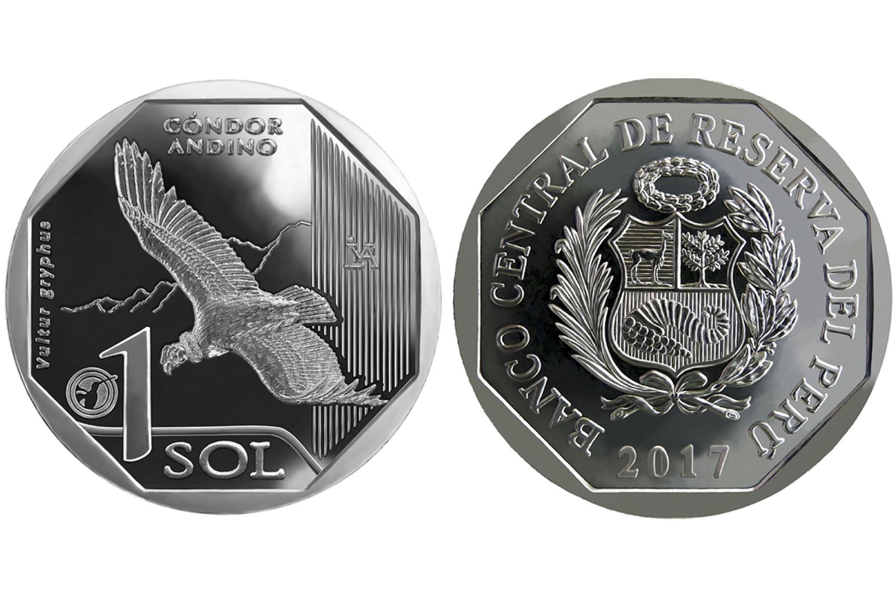 BCR emite nueva moneda de S/1 alusiva al Cóndor Andino