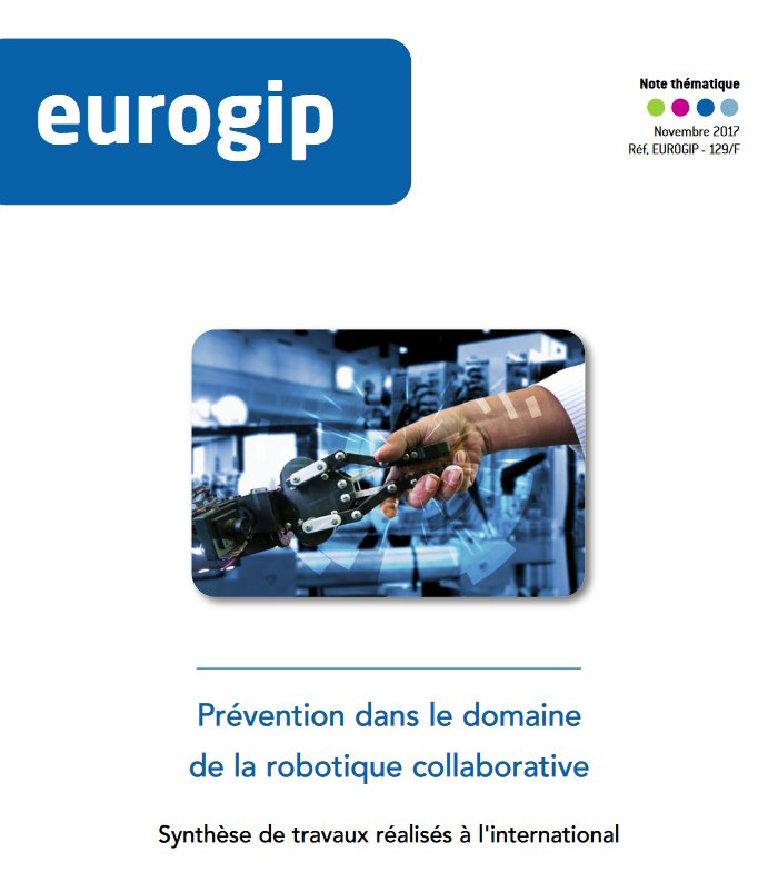 Vignette du document Prévention dans le domaine de la robotique collaborative. Synthèse de travaux réalisés à l'international