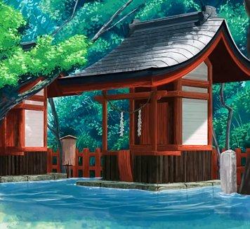 水辺の描き方メイキング🏞 青い色のレイヤーをスクリーンにするだけで水らしくなるんですね(๑°⌓°๑)