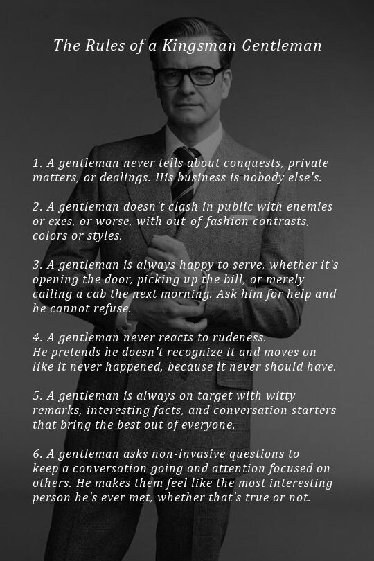 Rules of being a man