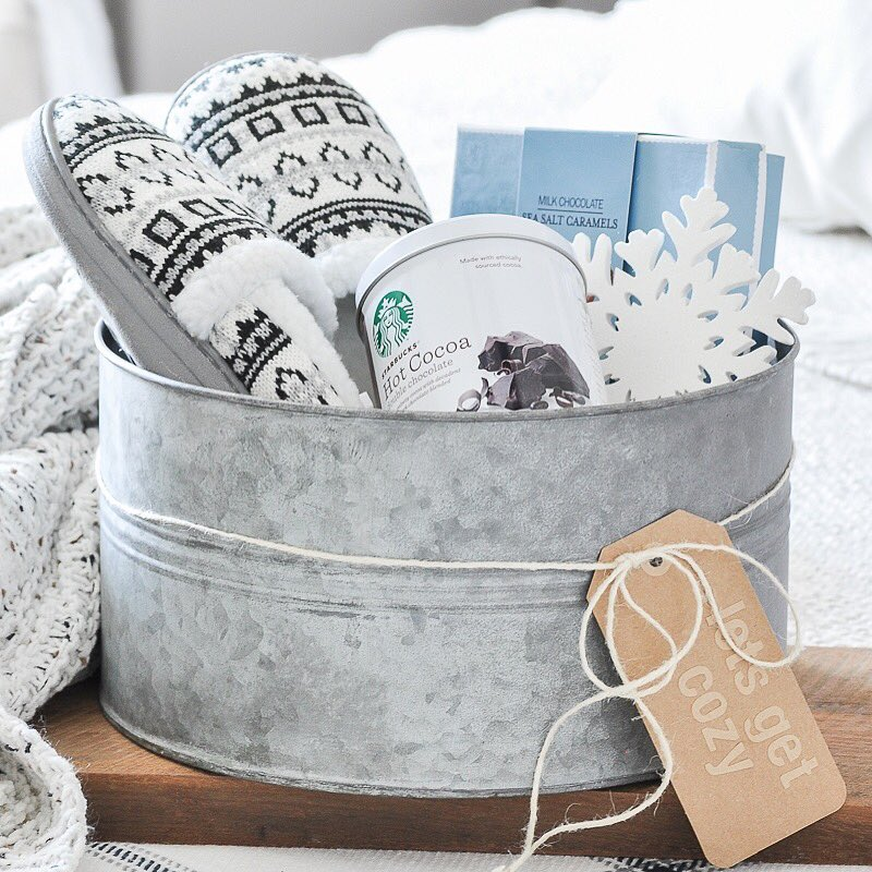 Im So Excited To Have Partnered With @gordmans To Share Two Farmhouse  Styled Gift Basket Ideas For The Holidays! ...